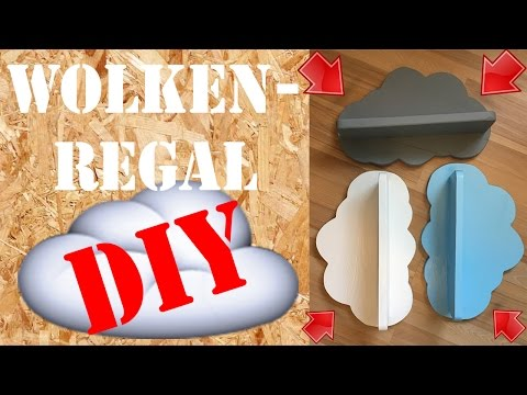 DIY Wandregal Wolke selber machen Wolkendeko Palettenholz Baby Kinderzimmer Cloud Shelves deutsch