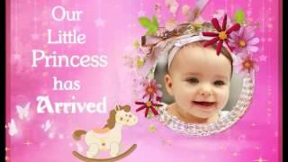CRADLE / NAMING  CEREMONY INVITATION  FOR BABY GIRL