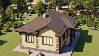Проект дома 103-А, Площадь дома: 103 м2, Размер дома:  10,5x14,3 м