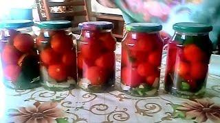 Консервированные помидоры, чудесный рецепт