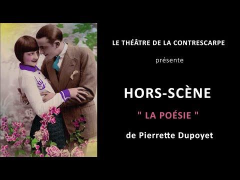 Découvrez le « HORS-SCÈNE • LA POÉSIE » de Pierrette DUPOYET, auteur, comédienne et metteur en...