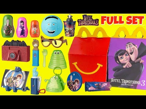 Download Hotel Transylvania 3 McDonalds Happy Meal Toys With Baby Dennis Mavis Johnny In Full HD MP4 3GP MKV Video And MP3 Torrent