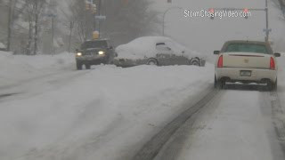 Rochester, NY Stranded Cars In Winter Storm - 2/16/2016