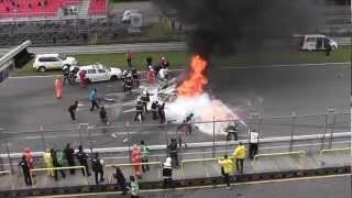 Смотреть онлайн Большой взрыв в открытие сезона гонок