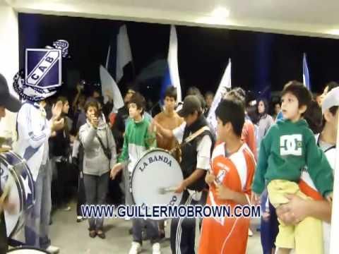 """""""RECIBIMIENTO A GUILLERMO BROWN Y CARAVANA 28/05/12"""" Barra: La Banda Del Sandia • Club: Guillermo Brown"""
