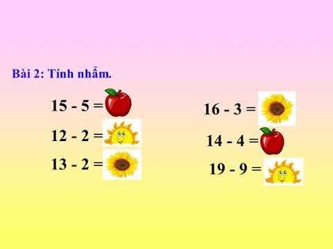 toán 1, phép trừ dạng 17-7