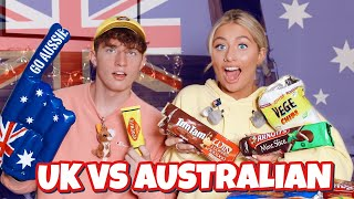 British girl tries AUSTRALIAN swap box!! Ft Georgia Productions