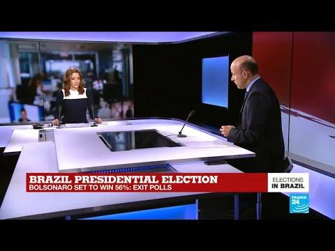 Brazil presidential election: Jair Bolsonaro set to win 56%