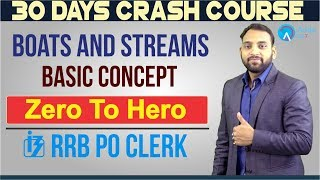 RRB PO/CLERK | Boats And Streams | Basic Concept | Zero To Hero | 6 P.M.