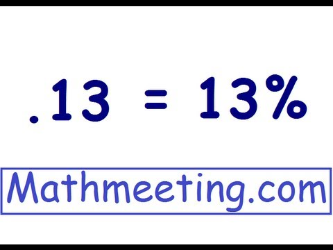 Heres A By Math Meeting Showing You How To Convert From A Decimal To A Percent Its Probably The Simplest Conversion In This Area