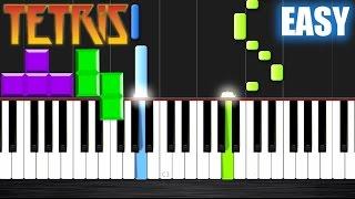 Tetris Theme - Korobeiniki - EASY Piano Tutorial by PlutaX