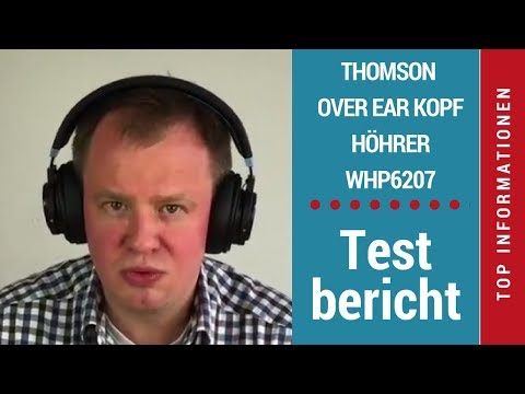 ᐅ Testbericht: Thomson Over Ear HQ Bluethooth Headset WHP6207 Test