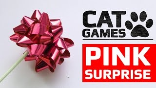 CAT GAMES - 😺 PINK SURPRISE (ENTERTAINMENT VIDEOS FOR CATS TO WATCH)