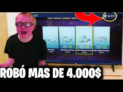 Niño Roba Dinero Para Comprar Pavos en Fortnite (LE PILLAN)