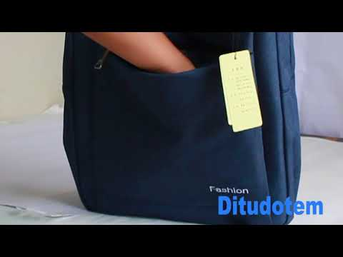 dbac5676e mochila bolsa lona jeans reforçada sport social feminina. Carregando zoom.