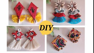 Diy- Creative Handmade Fabric Earrings (Unique) // Fabric Handmade Jewellery Making 2020