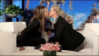 Jennifer Aniston asked Ellen about her recent on-air kiss with Howard Stern, and it led to a smooch between the two longtime friends that's perfect for Jennifer's new Instagram account.  #JenniferAniston #TheEllenShow #Ellen