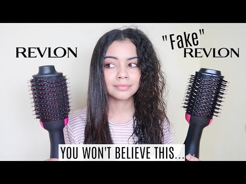 FAKE VS REAL REVLON ONE STEP HAIR DRYER AND VOLUMIZER ON CURLY HAIR