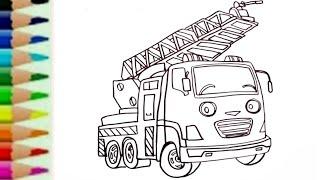 Gambar Mobil Pemadam Kebakaran Untuk Mewarnai Gambar Mewarnai Hd