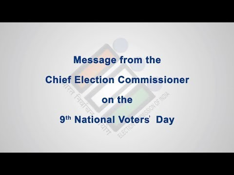 Message from the Chief Election Commissioner of India on the occasion of 9th NVD (English)