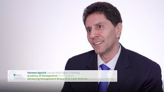 video - Mexico City 2020 AOM conference invitation from Prof. Herman Aguinis - Spanish version