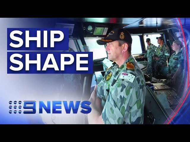 Life on board Australia's largest warship | Nine News Australia