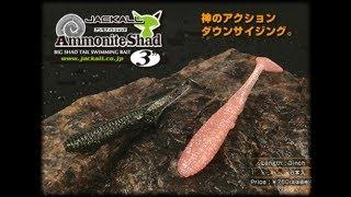 ジャッカルアンモナイトシャッド3インチ水中アクション映像JACKALLAmmoniteShad3