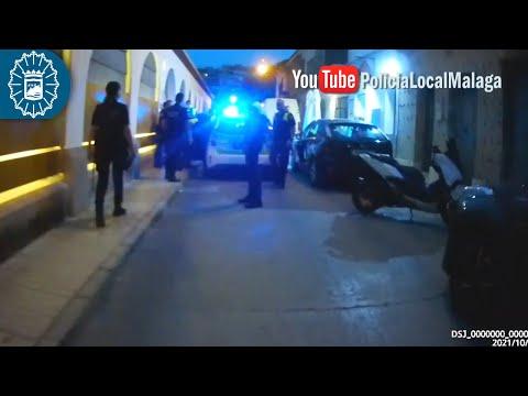 Apuñala a un joven en Málaga e intenta atacar a los policías locales con el mismo cuchillo
