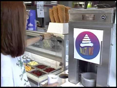 Video Frozen yogurt Blender / ice cream Multi-Mix machine