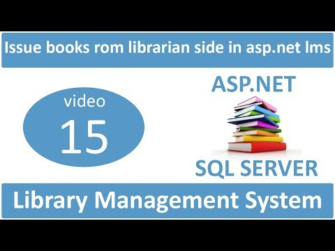 how to issue books from librarian side in asp.net lms