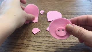 How To Make Felt Finger Puppets For Nursery And Counting Rhymes  This Little Piggy