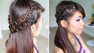 How to: Snake Braid Headband Hairstyle for Medium Long Hair Tutorial