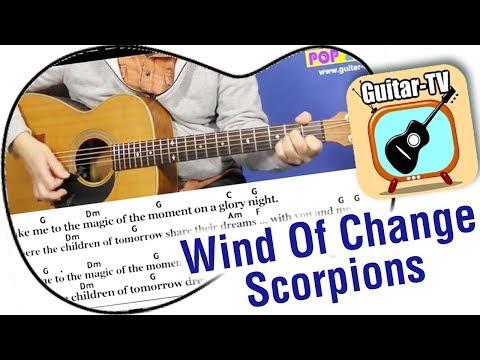 20 2 Wind Of Change Scorpions Cover Lyrics Chords Tutorial Gitarre ...