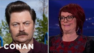 Megan Mullally Taught Nick Offerman How To Laugh