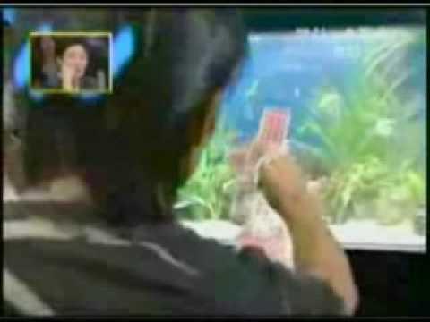 Magic hand through aquarium trick revealed