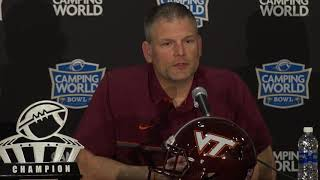 Head Coaches talk about defensive strategies in final press conference before Camping World Bowl gam