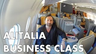 Amazing Food, Wine and Service in Alitalia Business Class - JFK to Rome
