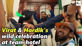 Exclusive: Kohli, Pandya joins wild celebrations at team hotel after series win