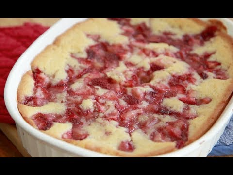 Video Fresh Strawberry Cobbler Recipe ~ Quick & Easy Dessert