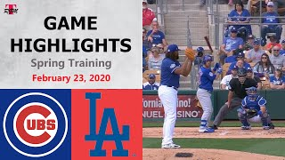 Chicago Cubs Vs. Los Angeles Dodgers Highlights - February 23, 2020 (Spring Training)