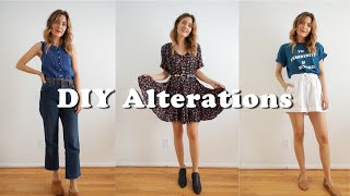DIY Easy Alterations For Thrifted Clothing No Sewing Machine Necessary! | Tiny Acorn