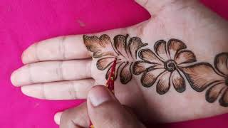 Simple Beautiful Arabic Henna Mehndi || Latest Henna Design 2020 ||new Mehndi Designs |bharma Mehndi