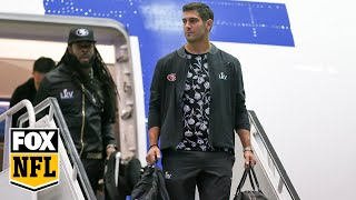 San Francisco 49ers arrive in Miami for Super Bowl LIV | FOX NFL