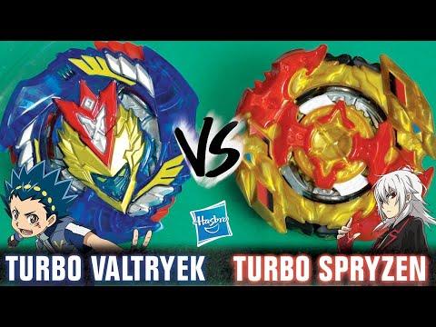 Valt VS Shu in HYPERSPHERE! | Turbo Valtryek V3 VS Turbo Spryzen S4 | Beyblade Burst Turbo
