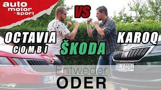 Škoda Karoq vs Škoda Octavia Combi| Entweder ODER | (Vergleich/Review) auto motor und sport