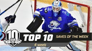 17/18 KHL Top 10 Saves for Week 4