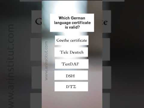 Which German language certificate is valid? - YouTube