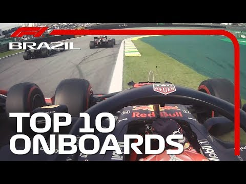 Drag Racing, Chaotic Restarts, And The Top 10 Onboards! | 2019 Brazilian Grand Prix