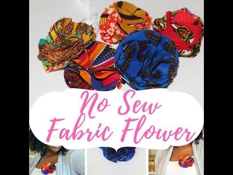 Fabric Flower - African Print Twist