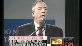 Murio Néstor Kirchner El Ex Presidente Argentino Secretario De Unasur